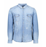 Boss Orange Overhemd erodeo denim blauw