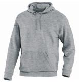 Jako Sweater met kap team 6733-40 grijs