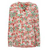 EDC Henley blouse met bloemenprint 049cc1f007 c110 off white beige