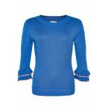 Numph Jazlynn Pullover blauw