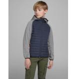 Jack & Jones Jcomulti quilted jacket junior grijs melange