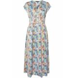 Vero Moda Vmcharlee sl 7/8 dress wvn lcs 10216970 cool blue/charlee aop blauw