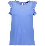 Vero Moda Vmalberta sweetheart lace s/l top 10211607 granada sky blauw