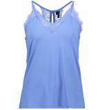Vero Moda Vmmilla s/l lace top color 10209420 granada sky blauw