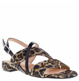 Gosh Dames sandalen leopard beige