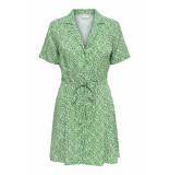 Jacqueline de Yong Jdystar s s shirt dress wvn fs 15171488 medium green/cloud dancer groen