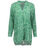 Luba Petra blouse 8421 print green groen