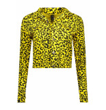IZ NAIZ Jacket leopard 3390 yellow geel
