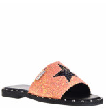 Les Tropéziennes Slippers glitter rood