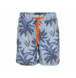 Indian Blue Zwemshort palmtree licht blauw
