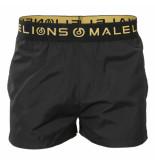 Malelions Swimshort gold zwart