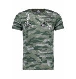 Gabbiano T shirt 13821 army groen