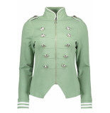 Zoso Sonia military look jacket 192 sage/white groen