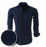 Chamberlain Heren overhemd met trendy design dark blauw