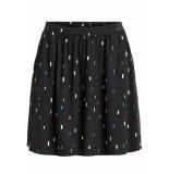 VILA Viplanta suane skirt 14050909 black/bayberry prist zwart