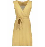 Pieces Pccaya sl dress 17097784 white peper/bright whi geel