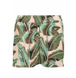 Pieces Pcnadine hw shorts 17098131 lotus/palms groen