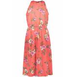 Jacqueline de Yong Jdytrick treats s/l dress wvn 15174333 cayenne aop/pink flower roze