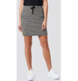 NA-KD Jaquard check skirt 1018-002530 zwart