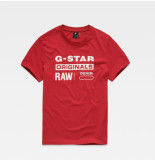 G-Star Graphic 8 r t s/s d14143-336 rood