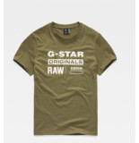 G-Star Graphic 8 r t s/s d14143-336 groen