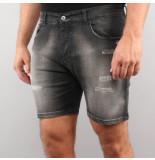 Splinter Jeans short zwart