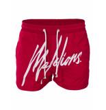 Malelions Swimshort signature - Rood S