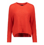 Object Objmarygold l/s knit pullover pb5 23028534 fiery red rood