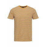 Jack & Jones Jprmatt stripe blu. tee ss crew neck 12152760 tinsel/slim fit geel