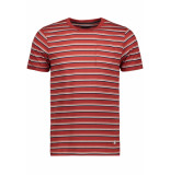 Jack & Jones Jprmatt stripe blu tee ss crew neck 12152760 ketchup/slim fit rood