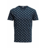 Only & Sons Onspineapple ss ditsy fitted tee 22013251 dress blue blauw