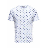 Only & Sons Onspineapple ss ditsy fitted tee 22013251 white wit