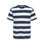 Only & Sons Onspatterson ss reg tee 22013051 dress blue blauw