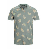 Jack & Jones Jprjaxson bla. polo ss 12153055 dark dusty green/slim groen