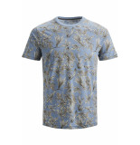 Jack & Jones Jprcaleb blu. tee ss crew neck 12152276 faded denim blauw