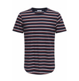 Only & Sons Onspalatine ss longy tee 22013137 dress blues blauw