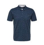 Only & Sons Onsliam ss polo tee 22012573 majolica blue blauw