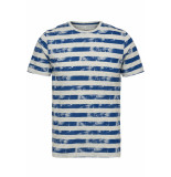Only & Sons Onspatrik stripe slim tee eq 3191 22013191 true blue blauw