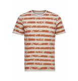 Only & Sons Onspatrik stripe slim tee eq 3191 22013191 carnelian oranje