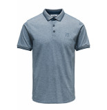 Only & Sons Onsstan ss fitted polo tee (6560) noos 22011349 majolica blue blauw