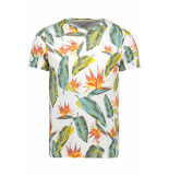 Jack & Jones Jornewtravelleraop tee ss crew neck 12158251 cloud dancer wit