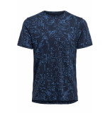 Only & Sons Onsnext aop mix slim tee nf 3145 22013145 dress blues blauw