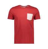 Jack & Jones Jcoboston tee ss crew neck 12156938 tango red/slim rood