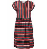 Noisy may Nmmelissa s/s above knee dress 2 27006197 mandarin red/snow white