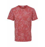 Only & Sons Onspecos ss aop tee 22013199 cranberry rood