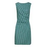 Smashed Lemon Dress aqua-navy groen
