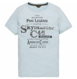 PME Legend Short sleeve r-neck tshirt sky blue blauw