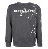 Ballin Amsterdam Splatter sweater antra grijs
