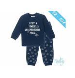 Feetje Pyjama i put a smile kids navy blauw