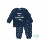 Feetje Pyjama i put a smile baby navy blauw
